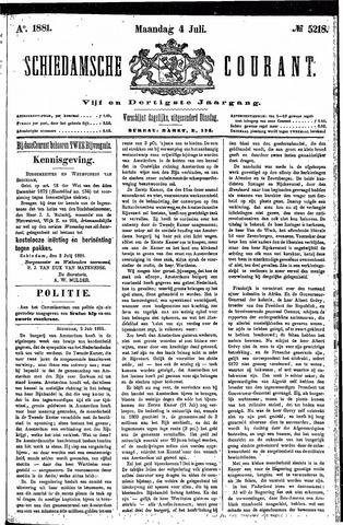 Schiedamsche Courant 1881-07-04
