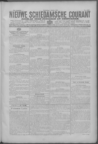 Nieuwe Schiedamsche Courant 1925-10-01