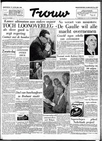 Trouw / De Rotterdammer 1960-01-27