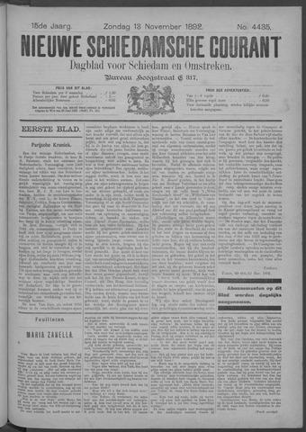 Nieuwe Schiedamsche Courant 1892-11-13