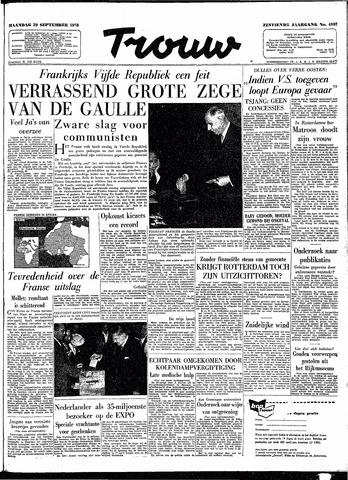 Trouw / De Rotterdammer 1958-09-29