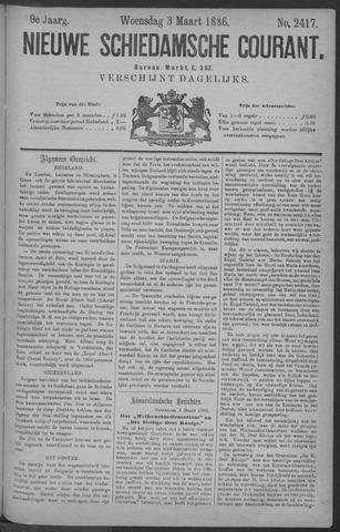 Nieuwe Schiedamsche Courant 1886-03-03