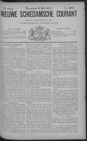 Nieuwe Schiedamsche Courant 1892-05-18