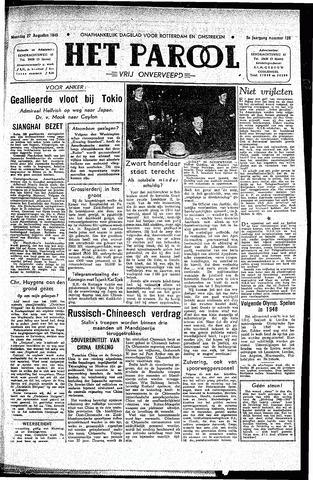 Rotterdamsch Parool / De Schiedammer 1945-08-27