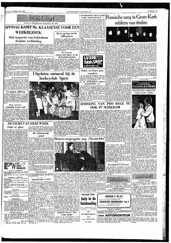 Rotterdamsch Nieuwsblad / Schiedamsche Courant / Rotterdams Dagblad / Waterweg / Algemeen Dagblad 1959-02-06