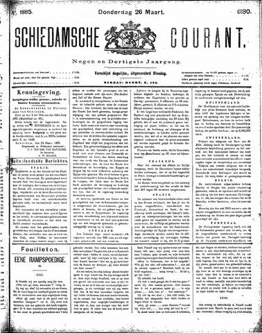 Schiedamsche Courant 1885-03-26