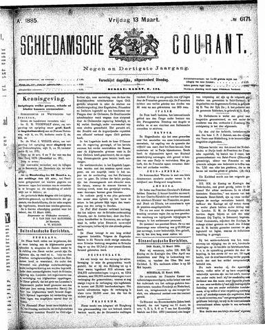 Schiedamsche Courant 1885-03-13