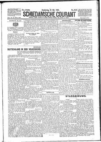 Schiedamsche Courant 1931-05-21