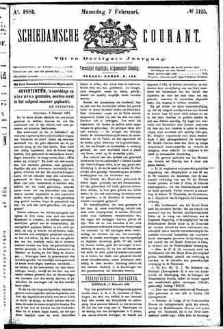 Schiedamsche Courant 1881-02-07