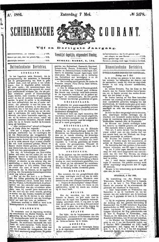 Schiedamsche Courant 1881-05-07
