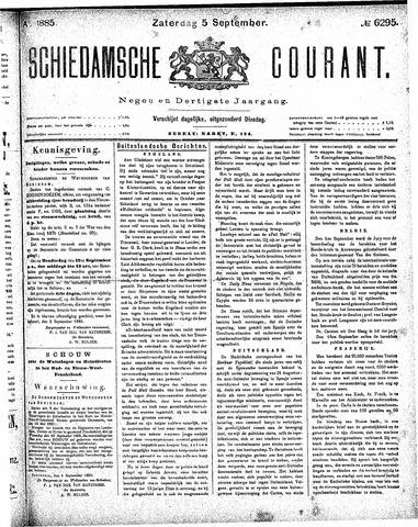Schiedamsche Courant 1885-09-05