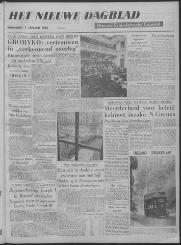 Nieuwe Schiedamsche Courant 1962-01-03
