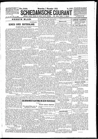 Schiedamsche Courant 1933-11-01