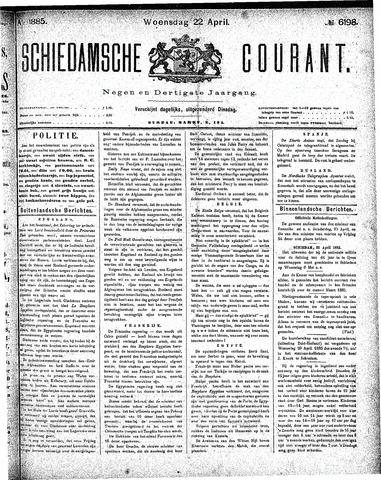 Schiedamsche Courant 1885-04-22