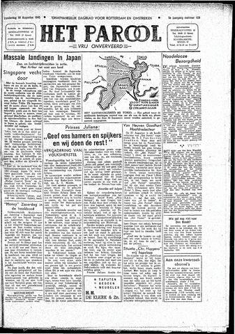 Rotterdamsch Parool / De Schiedammer 1945-08-30