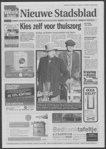 Het Nieuwe Stadsblad 2007-10-24