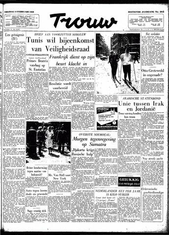 Trouw / De Rotterdammer 1958-02-14