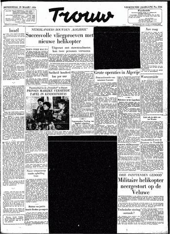Trouw / De Rotterdammer 1956-03-29