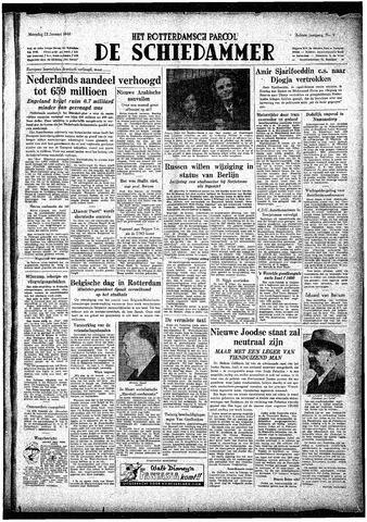 Rotterdamsch Parool / De Schiedammer 1948-01-12