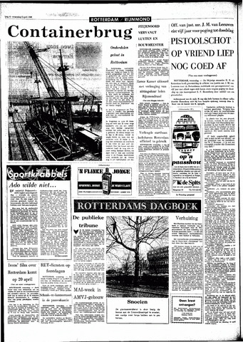 Rotterdamsch Parool / De Schiedammer 1966-04-06