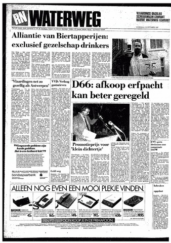 Rotterdamsch Nieuwsblad / Schiedamsche Courant / Rotterdams Dagblad / Waterweg / Algemeen Dagblad 1987-09-30