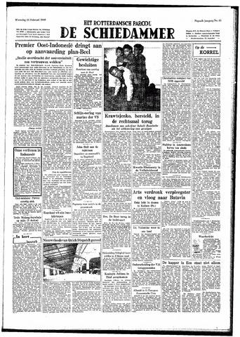 Rotterdamsch Parool / De Schiedammer 1949-02-23