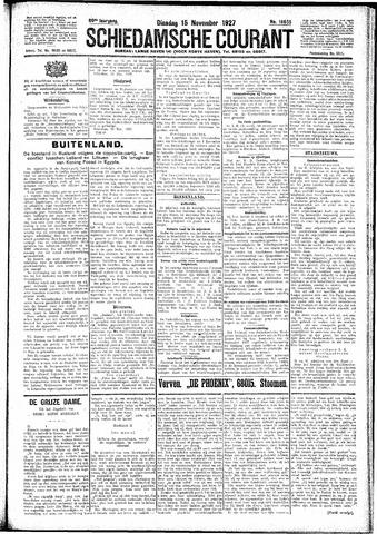 Schiedamsche Courant 1927-11-15