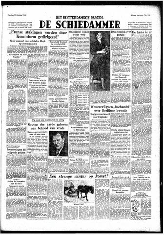 Rotterdamsch Parool / De Schiedammer 1948-10-12