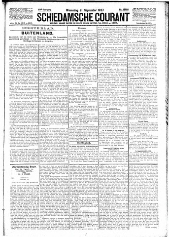 Schiedamsche Courant 1927-09-21