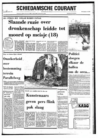 Rotterdamsch Nieuwsblad / Schiedamsche Courant / Rotterdams Dagblad / Waterweg / Algemeen Dagblad 1974-09-23