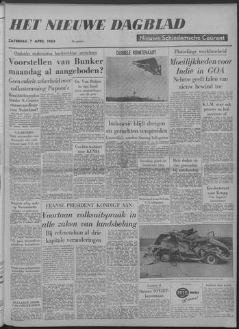 Nieuwe Schiedamsche Courant 1962-04-07