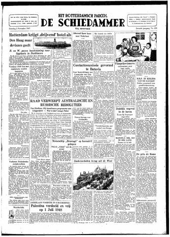 Rotterdamsch Parool / De Schiedammer 1947-11-01