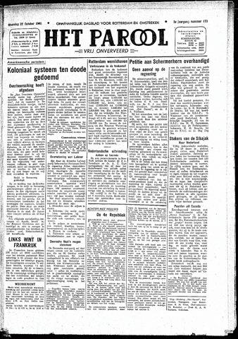 Rotterdamsch Parool / De Schiedammer 1945-10-22