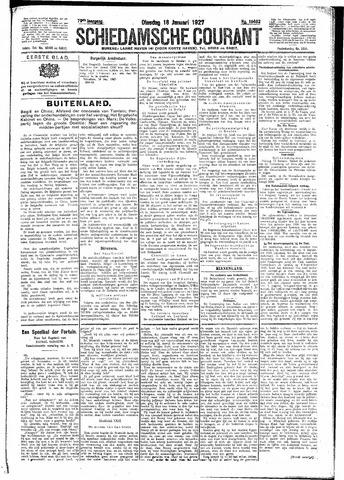 Schiedamsche Courant 1927-01-18