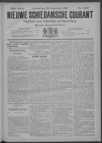 Nieuwe Schiedamsche Courant 1892-08-25