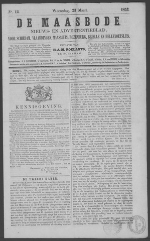 De Maasbode 1853-03-23