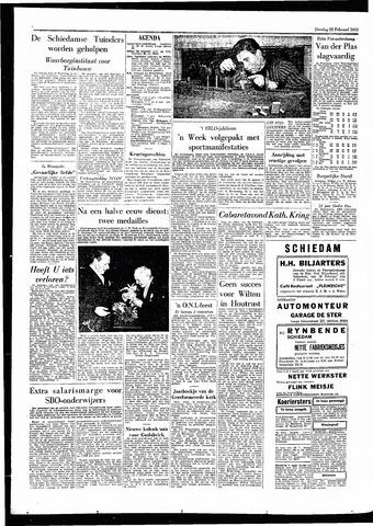 Rotterdamsch Parool / De Schiedammer 1955-02-22