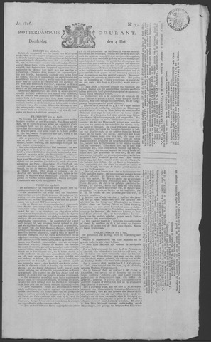 Rotterdamse Courant 1826-05-04