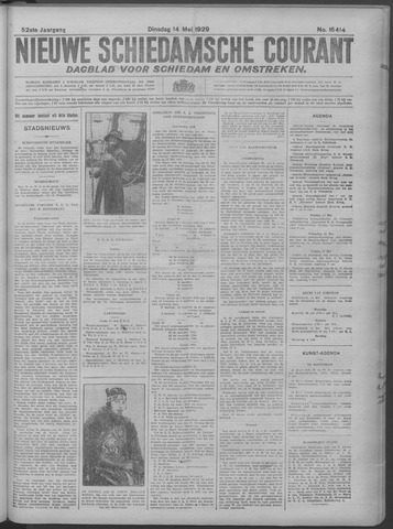 Nieuwe Schiedamsche Courant 1929-05-14
