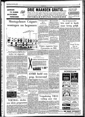 Rotterdamsch Parool / De Schiedammer 1961-11-09