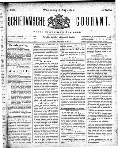 Schiedamsche Courant 1885-08-05