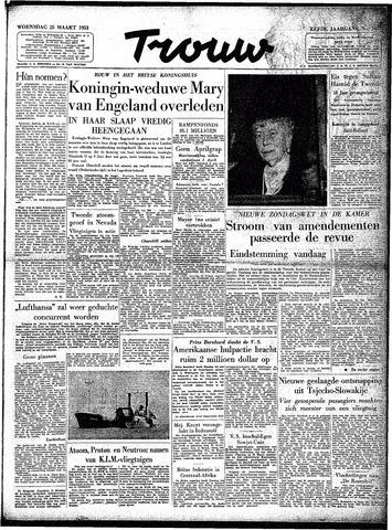 Trouw / De Rotterdammer 1953-03-25