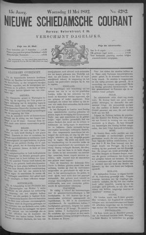 Nieuwe Schiedamsche Courant 1892-05-11