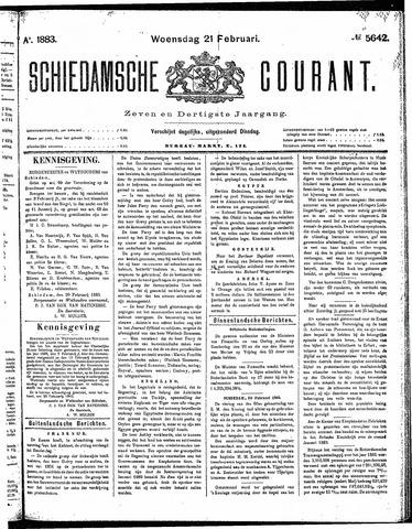 Schiedamsche Courant 1883-02-21