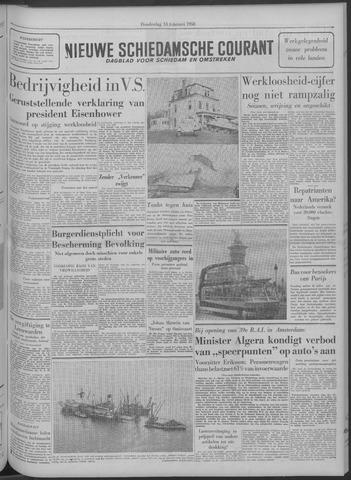 Nieuwe Schiedamsche Courant 1958-02-13