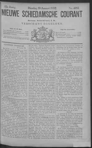 Nieuwe Schiedamsche Courant 1892-01-19