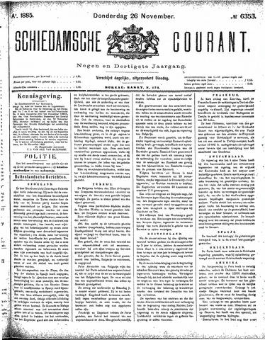 Schiedamsche Courant 1885-11-26