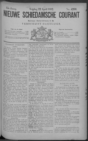 Nieuwe Schiedamsche Courant 1892-04-22