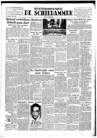 Rotterdamsch Parool / De Schiedammer 1947-07-03