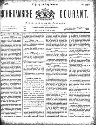 Schiedamsche Courant 1883-09-28